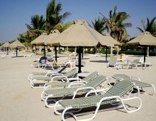 Beach of the hotel Smartline Bin Majid Beach Resort 4* (Ras Al Khaimah, UAE)