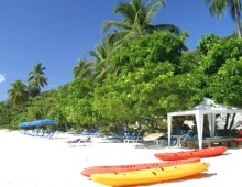 Beach of the hotel Panwa Boutique Beach Resort 4* (Phuket, Thailand)