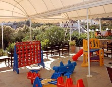 Playground in the hotel Vasia Ormos 3* (Agios Nikolaos, Crete, Greece)
