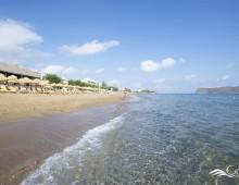 Beach of the hotel CHC Galini Sea View 5* (Chania, Crete, Greece)