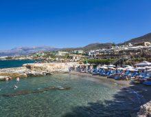 Beach of hotel Porto Greco Village 4* (Hersonissos, Crete, Greece)