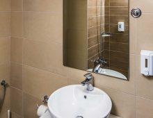 Bathroom in the room of hotel Porto Greco Village 4* (Hersonissos, Crete, Greece)