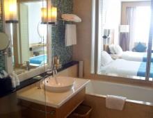 Bathroom in the room in the Wan Jia Hotel Resort Sanya 5* (Hainan, China)