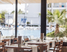 Restaurant in Aqua Hotel Aquamarina & Spa 4* in Santa Susanna, Costa del Maresme, Spain