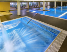 Pools in the Wellness & SPA in Aqua Hotel Aquamarina & Spa 4* in Santa Susanna, Costa del Maresme, Spain