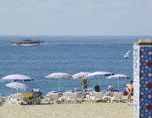 Beach of the hotel Limoncello Konakli Beach 5* (Alanya, Turkey)
