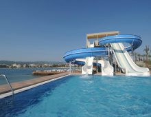 Water slides in the Gold Island Hotel 5* (Alanya, Turkey)