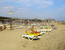 Beach of the hotel Xeno Eftalia Resort 4* (Konakli, Alanya, Turkey)