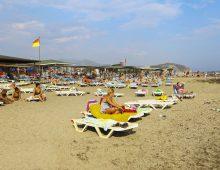 Beach of the hotel Xeno Eftalia Resort 4* (Konakli, Alanya, Turkey)