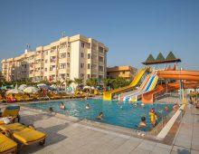 Water slides in the hotel Xeno Eftalia Resort 4* (Konakli, Alanya, Turkey)
