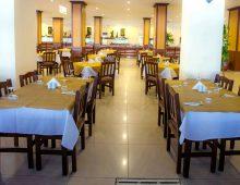 Restaurant in the hotel Xeno Eftalia Resort 4* (Konakli, Alanya, Turkey)