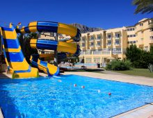 Water slides in the hotel TUI Day & Night Connected Club Hydros HV1 5* (Kemer, Turkey)