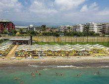Beach of hotel Alan Xafira Deluxe Resort Spa 5* (Alanya, Turkey)