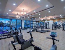 Fitness center in hotel Alan Xafira Deluxe Resort Spa 5* (Alanya, Turkey)