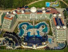 Panorama of hotel Alan Xafira Deluxe Resort Spa 5* (Alanya, Turkey)