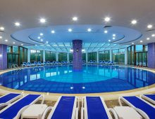 Indoor pool in hotel Alan Xafira Deluxe Resort Spa 5* (Alanya, Turkey)