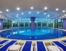 Indoor pool in hotel Alan Xafira Deluxe Resort Spa 5* (Alanya, Turkey)