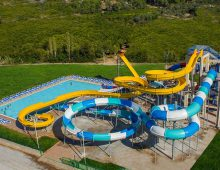 Water slides in hotel Alan Xafira Deluxe Resort Spa 5* (Alanya, Turkey)