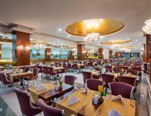 Restaurant in hotel Alan Xafira Deluxe Resort Spa 5* (Alanya, Turkey)
