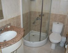 Bathroom in the room of hotel Blue Dream 3* (Alanya, Turkey)