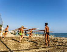Beach of hotel Eftalia Splash Resort 5* (Alanya, Turkey)