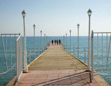 Pier on the beach of hotel Labranda Alantur 5* (Alanya, Turkey)