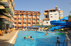 Building and pool of Palmiye Garden Hotel 3* (Side, Turkey)