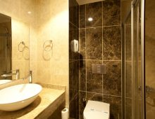 Room's bathroom in Sun Club Hotel 4* - Side, Turkey