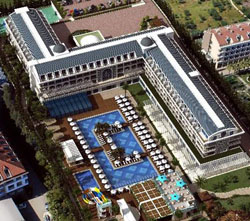 Panorama of hotel Karmir Resort & Spa 5* (Goynuk, Kemer, Turkey)