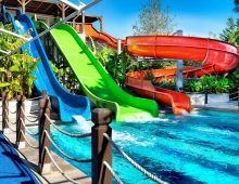 Water slides in the hotel Crystal De Luxe Resort & Spa 5* (Kemer, Turkey)