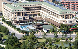 Panorama of the hotel Crystal De Luxe Resort & Spa 5* (Kemer, Turkey)