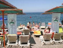 Beach of the Grand Viking Hotel 4* (Kemer, Turkey)
