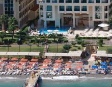 Beach of hotel Golden Lotus 4* (Kemer, Turkey)