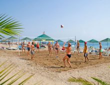 Beach of the Club Hotel Sunbel 4* (Beldibi, Kemer, Turkey)