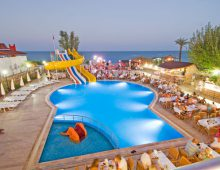 Pool and water slides in the Club Hotel Sunbel 4* (Beldibi, Kemer, Turkey)