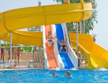 Water slides in the Club Hotel Sunbel 4* (Beldibi, Kemer, Turkey)